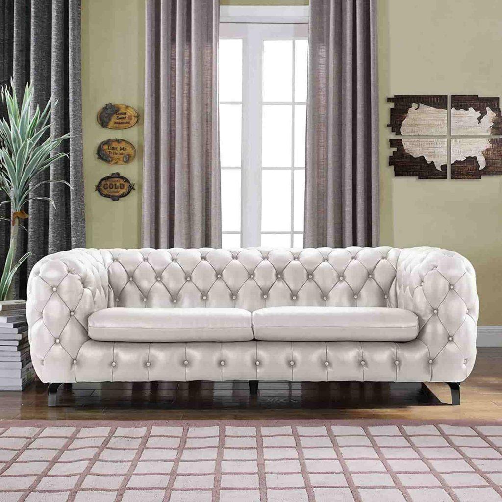 White Chester Sofa