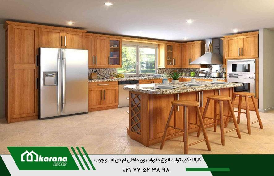 کاهش قیمت کابینت چوبی آشپزخانه