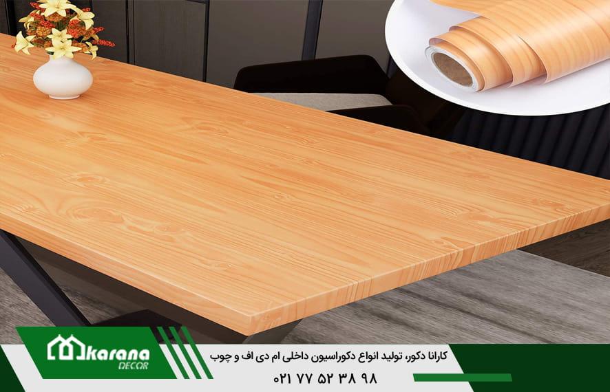 رنگ کابینت طرح چوب