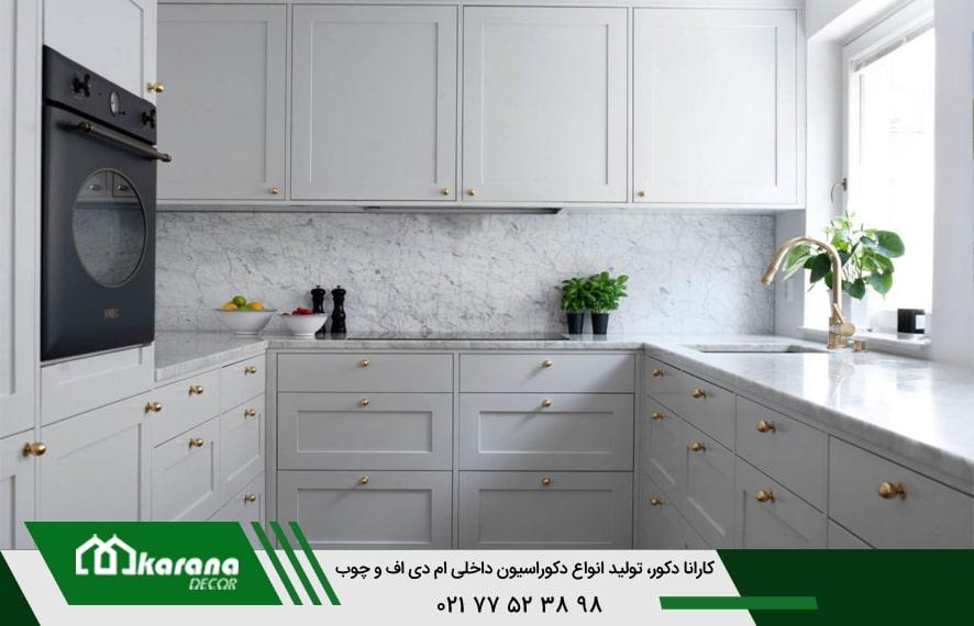 Small kitchen membrane cabinets