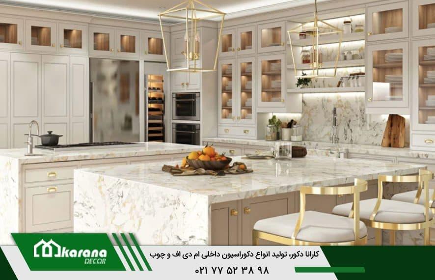 Golden white MDF cabinet